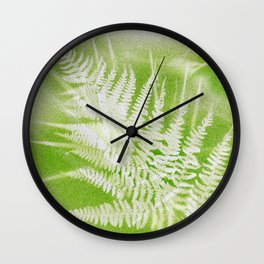 Airbrushed bracken frond and grasses Wall Clock