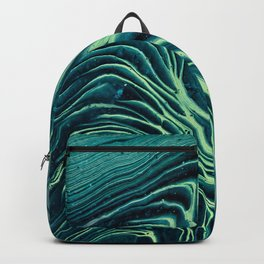 Lagoon Acrylic Tree Ring Pour Painting Backpack