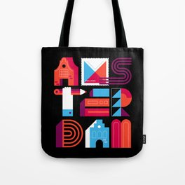 Postcards from Amsterdam / Typography Tote Bag