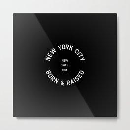 New York City - NY, USA (Badge) Metal Print