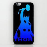 thor iPhone & iPod Skins featuring Thor by Sport_Designs