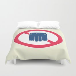 Road Closed to All Monsters Duvet Cover
