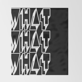 WHAT keeps happening: White Throw Blanket