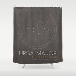 Ursa Major - The Great Bear Constellation Shower Curtain