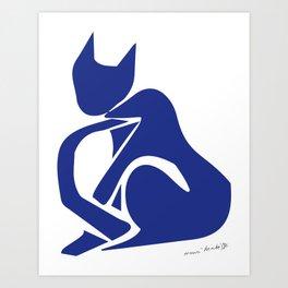 Henri Matisse - Le Chat Bleu (Blue Cat) Artwork - Prints, Posters, Tshirts, Bags, Mugs, Men, Art Print