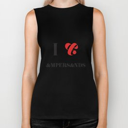 I heart Ampersands Biker Tank