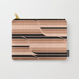 Geo Stripes - Black & Neutral Carry-All Pouch