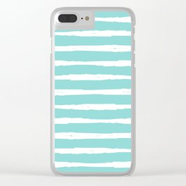 Sea Wave Stripe Clear iPhone Case