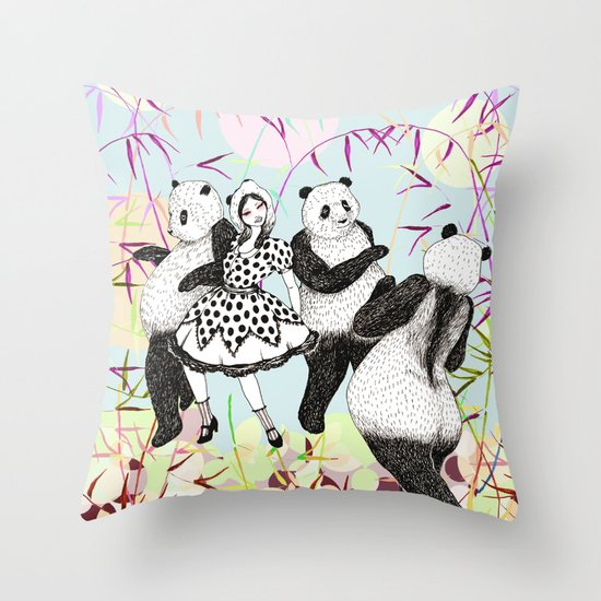 Panda Dance Throw Pillow