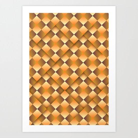 Pass This Gold Art Print
