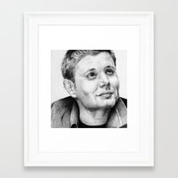 dean winchester Framed Art Prints featuring Dean Winchester by stardustsoul