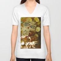 philadelphia V-neck T-shirts featuring Philadelphia by dormiveglia