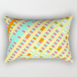 African Inspired Tropical Thatch Print Rectangular Pillow