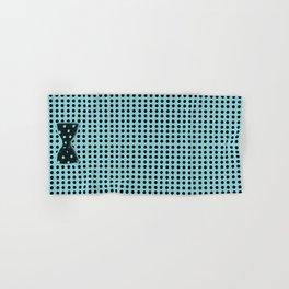 Black and Teal Polka Dot Hand & Bath Towel