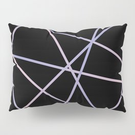 Lines 92 - in pink, purple on black Pillow Sham
