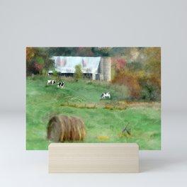 Barnyard Cows Mini Art Print