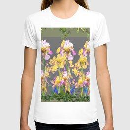 SPRING IRIS GARDEN FLORAL & IVY PATTERN DESIGN T-shirt