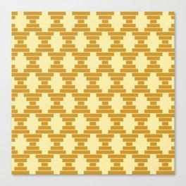 Bari Mustard Geometric Canvas Print