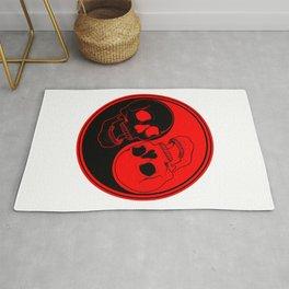 Yin yang with skulls Rug