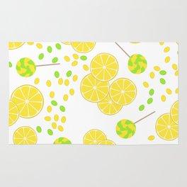 Candy sweets of lemon lollypops Rug