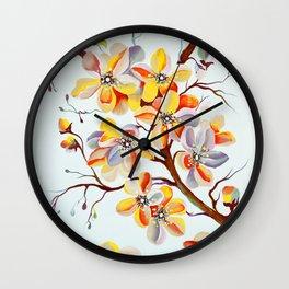Japanese Cherry Tree Flowers, cherry blossom branch Wall Clock
