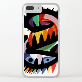 Depemiro Abstract Colorful Art Clear iPhone Case