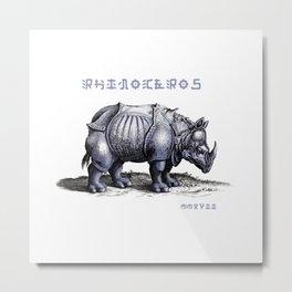Rinoceros Metal Print