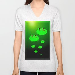 Frogs. Unisex V-Neck