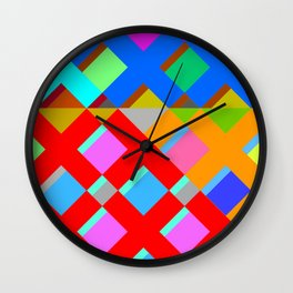 Cubic Quilt Pattern  Wall Clock