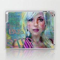 bus stop girl  Laptop & iPad Skin
