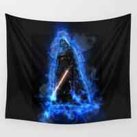 vader Wall Tapestries featuring Vader by Robin Curtiss