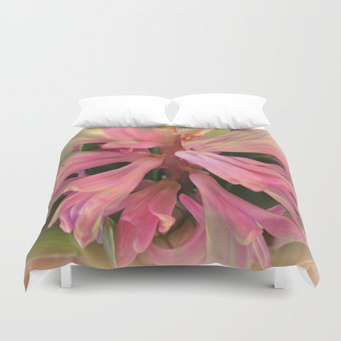 In The Pink Hyancinth Abstract  Duvet Cover
