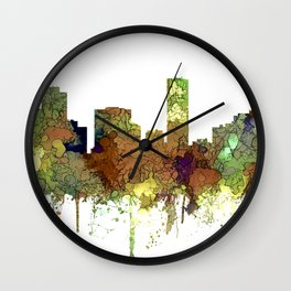 Denver, Colorado Skyline SG - Safari Buff Wall Clock