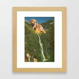Milky Falls Framed Art Print