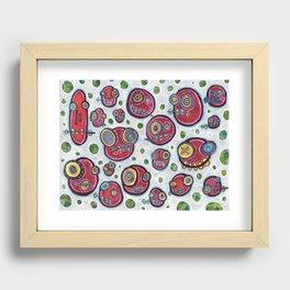 Polka-Dot-Peepul Recessed Framed Print