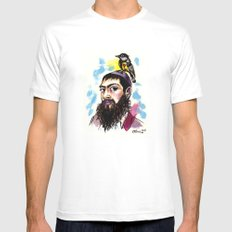 Matisyahu White Mens Fitted Tee MEDIUM
