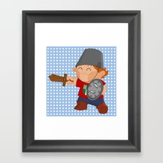 little knight, playing to grow Framed Art Print
