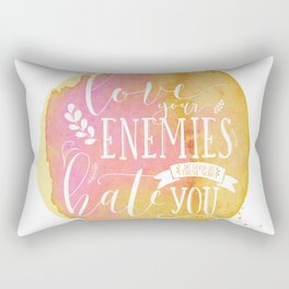 LUKE 6:27 (Love Your Enemies) Rectangular Pillow