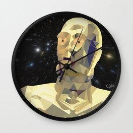 C3po Poly Art Wall Clock
