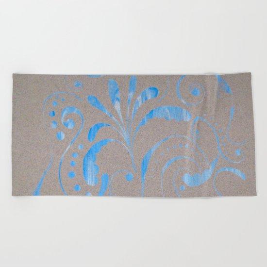 marbled design Beach Towel