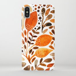 Autumn watercolor leaves iPhone Case