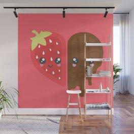 Strawberry & Chocolate Wall Mural