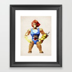 Polygon Heroes - Lion-O Framed Art Print