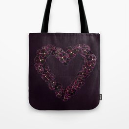 Purple Pansy Heart Tote Bag