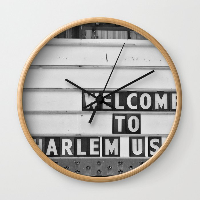 Welcome to Harlem Wall Clock