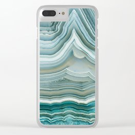 Agate Crystal Blue Clear iPhone Case