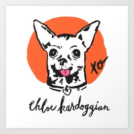 Chloe Kardoggian Illustration with Signature Art Print