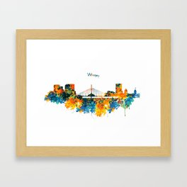 Winnipeg Skyline Framed Art Print