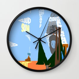 Picture Of Words Wall Clock