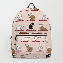 Bull Terrier Yoga Backpack